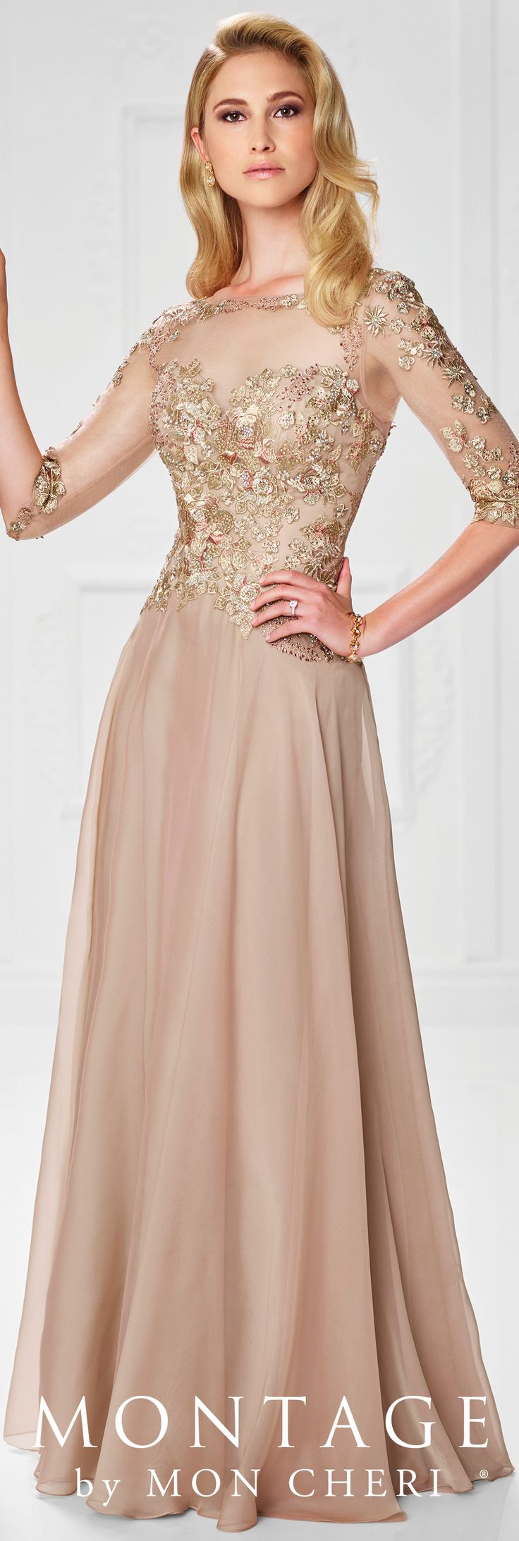 Evening dresses 3 4 length sleeves
