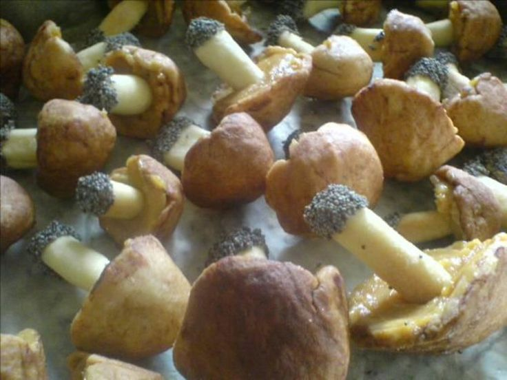 Ciastka w kształcie grzybków