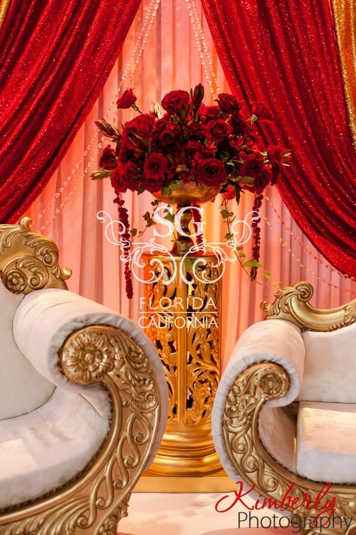 Suhaag Garden, Florida Atlanta California Indian wedding decorators, Muslim reception, red rose bouquet