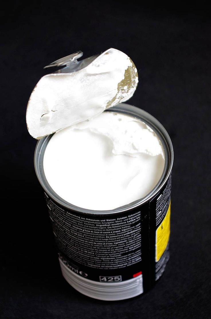 Lata de leche de coco