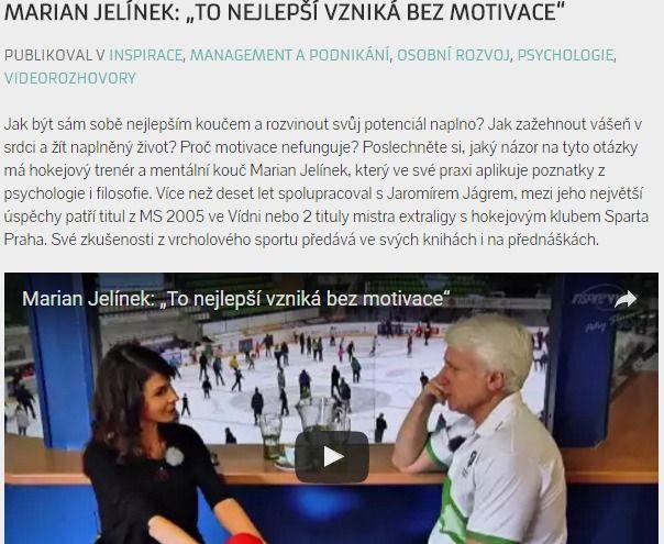 """Marian Jelínek: """"To nejlepší vzniká bez motivace"""""""