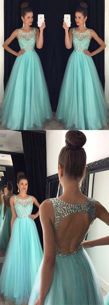 Black and baby mint blue prom dresses