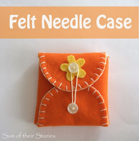 How to make an easy felt needle case--This would be a great first sewing project for kids!