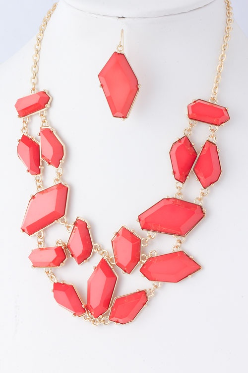 """Paola"" Jewel Coral Necklace: Coral Necklaces, Necklaces Brianarenestor"