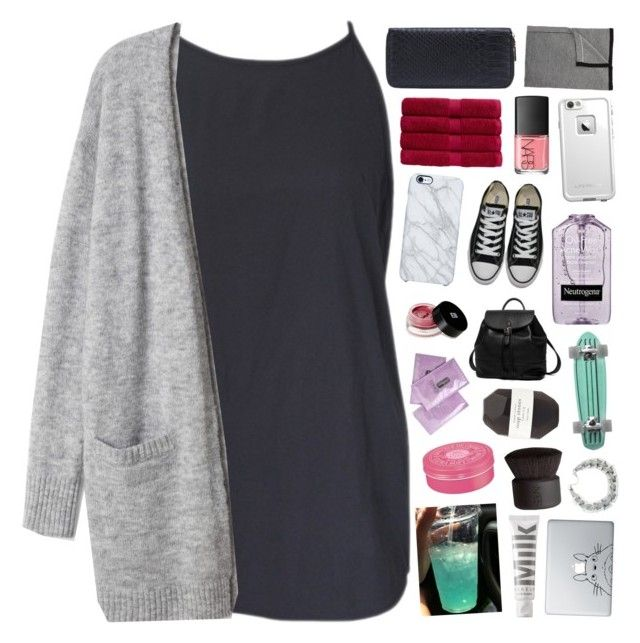 """""""merry christmas! ❁"""" by pheachy ❤ liked on Polyvore featuring Uncommon, Edward Bess, Christy, Converse, Princess Carousel, NARS Cosmetics, LifeProof, Barneys New York, Pelle and KEEP ME"""