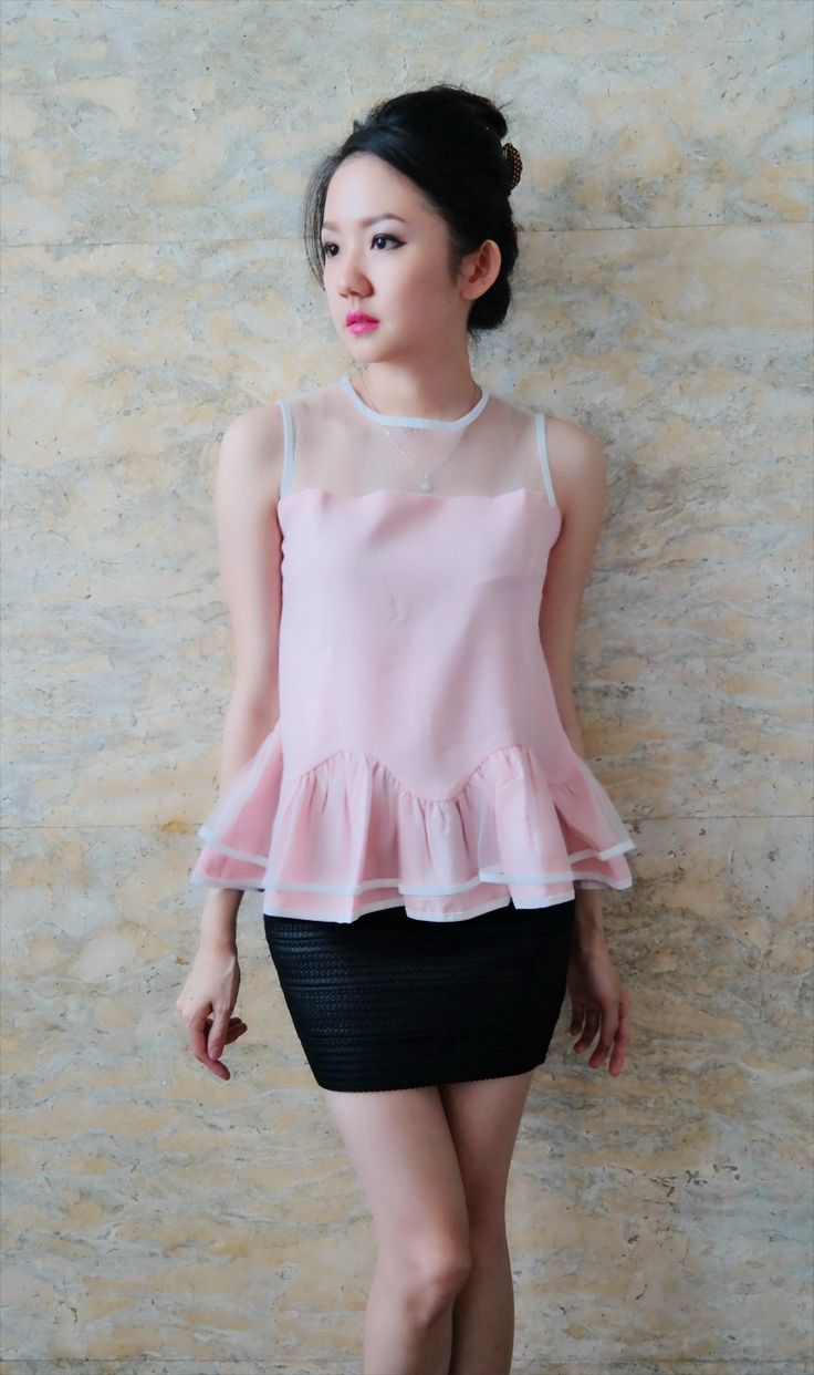 Minako peplum pink/bust up to 100/length 55/215k/ Email: order@fellinboutique.com, LINE: FellinBoutique, BBM: 7637D27C