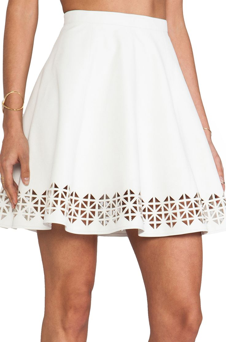 Laser cut-out detailed skirt