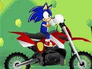 Sonic Stunt Motocross :http://www.1cargames.net/motorbike-games/sonic-stunt-motocross/
