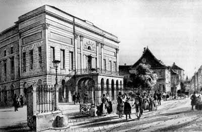 A Pesti Magyar Színház épülete 1837-ben