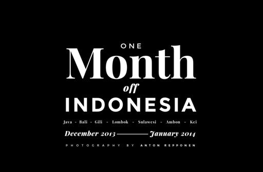 'One Month Off - INDONESIA' by Anton Repponen