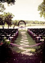 Outdoor Wedding Also A Good Way To Block Off The Aisle Avoid Damage