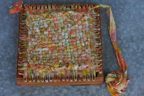 pot holder loom with t shirt yarn