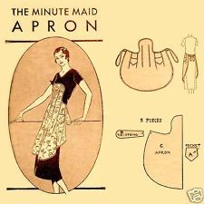 ~ Vintage 1920s Flapper Era Full Size Apron Pattern Made From 1 Yard ~ Gift ~
