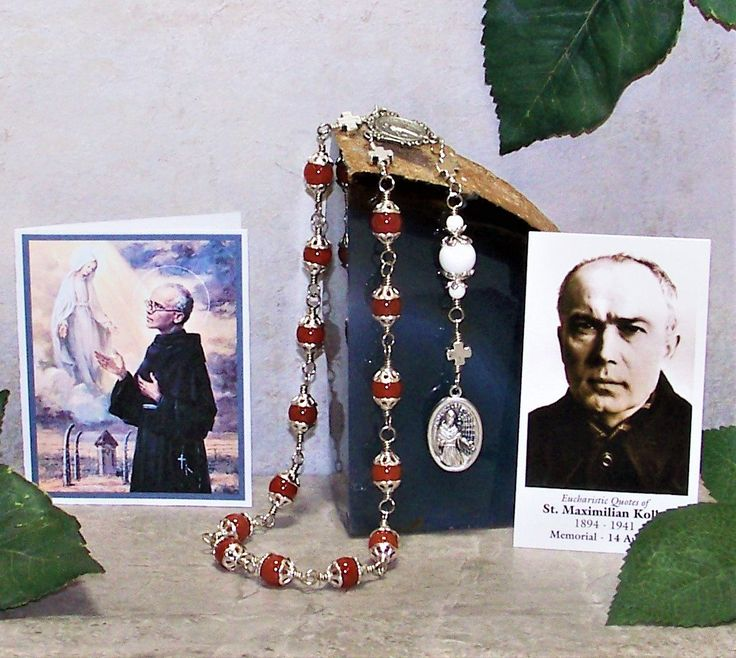 Unbreakable Traditional Catholic Chaplet of St. Maximillian Kolbe - Patron Saint of Families, Prisoners and Against Drug Addiction by foodforthesoul on Etsy