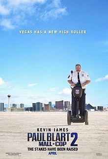 """The King of Queens"" goes Vegas! Kevin James in movie character (written by James and show partner Nick Bakay) visits ""sin city"" for a convention (and you know what happens next). You didn't know this: Blart's daughter (Raini Rodriguez, ""Austin & Ally"") falls for a local (David Henrie, ""Wizards of Waverly Place""). Directed by Andy Fickman (""Liv & Maddie""). Disney trifecta in play despite this being a Sony movie: Produced by Adam Sandler (""Bedtime Stories"") and James."