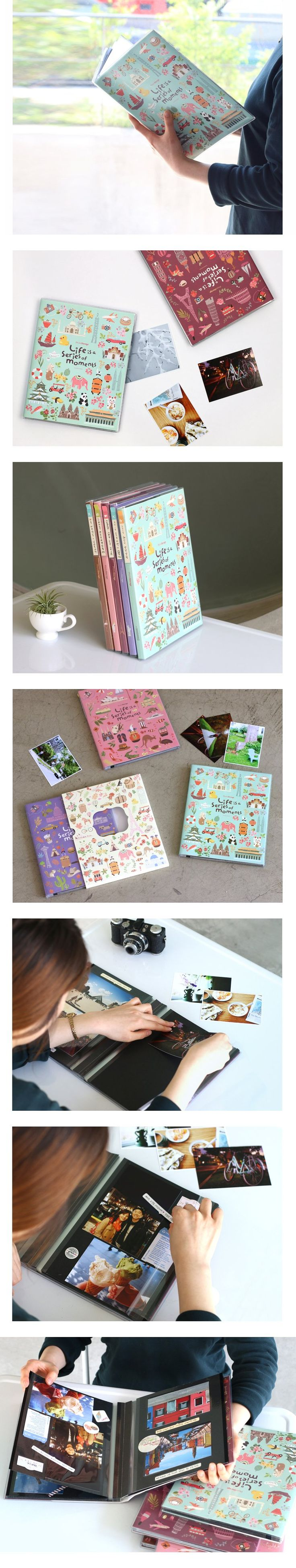 Life is A Series of Moments Self Adhesive Photo Album, 5 Designs – Monday To Sunday