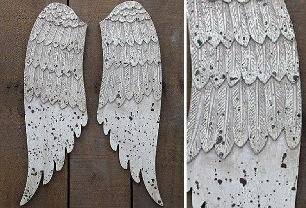 Wood Wings Wall Decor : Ideas about wooden angel wings on