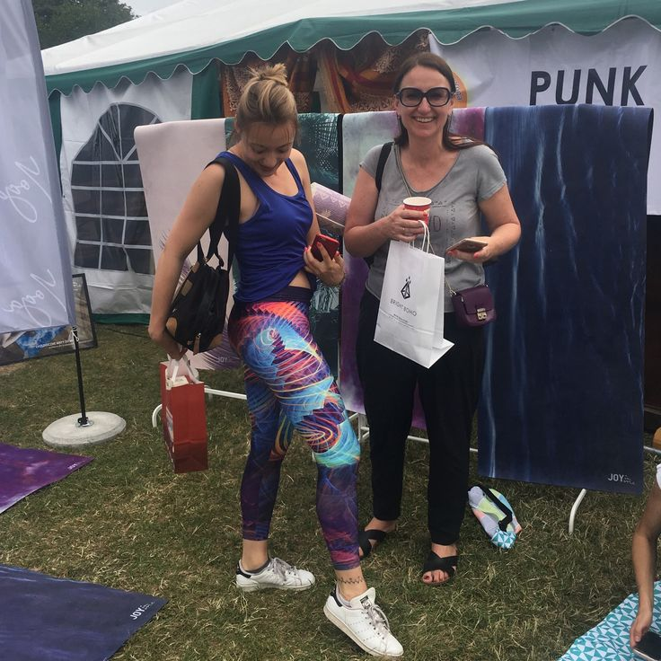 International Yoga Day Event in Pola Mokotowskie Warsaw. Our New Happy Customers in Electric Boho Leggings ❤️💙💛