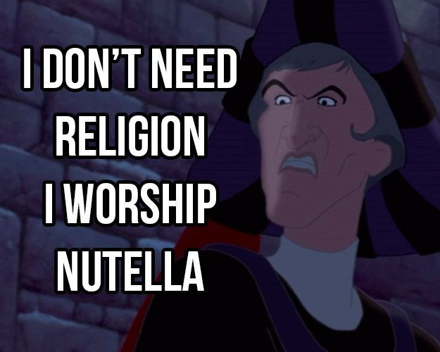 Praise Nutella! | 17 Pictures Disney And Nutella Lovers Will Think Are Hilarious