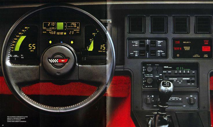 Chevrolet Corvette Dash Often Called Atari Dash Between Model Years 1984 And 1989 Cars