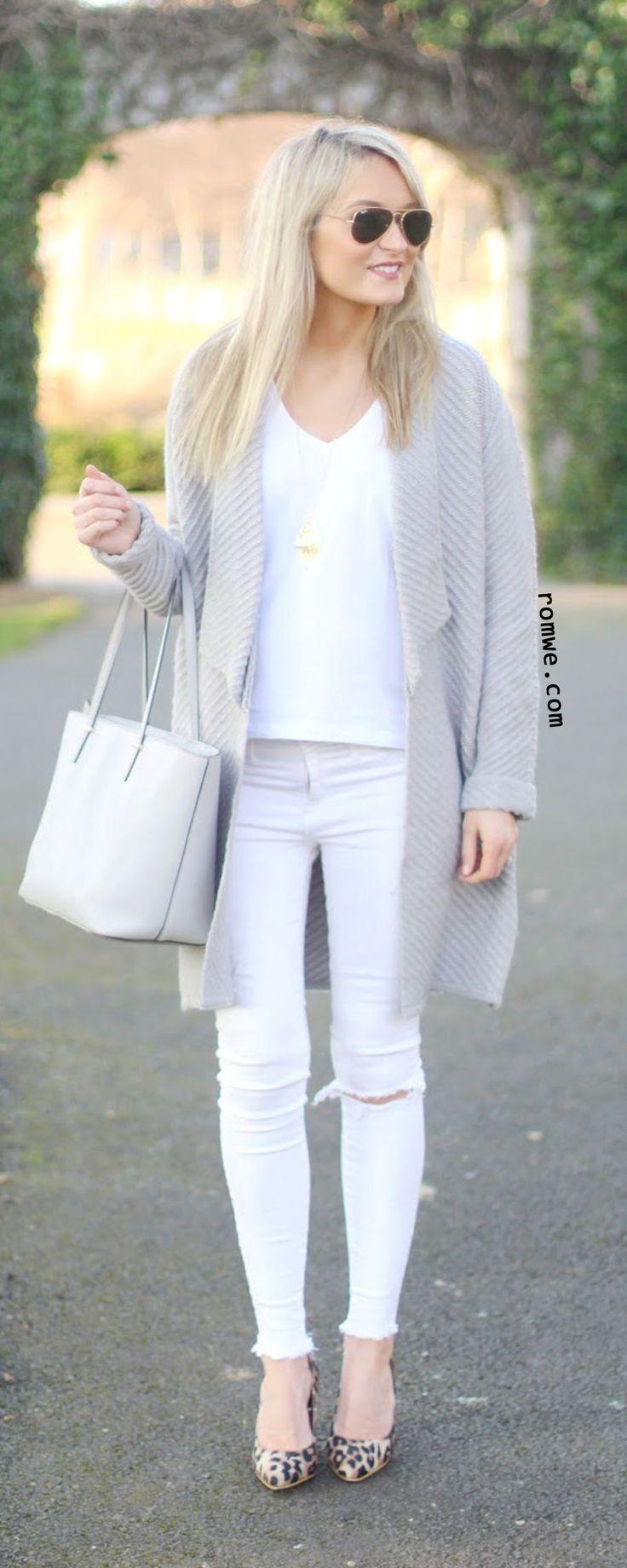 Grey Shawl Collar Roll Cuff Long Sweater Coat