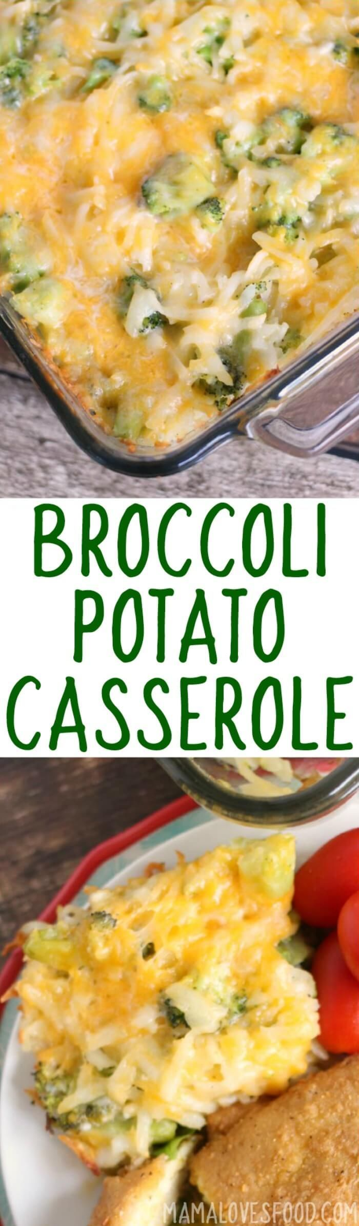 This Broccoli Cheese Potato Casserole recipe is the perfect simple dinner idea the whole family will love. Add chicken and freeze for your next busy night!