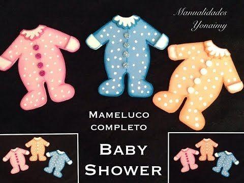 MAMELUCO COMPLETO PARA BABY SHOWER HECHO CON FOAMY O GOMA EVA . - YouTube