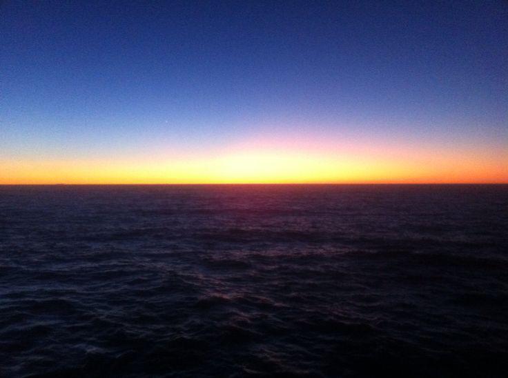 Sun rise in New Zealand