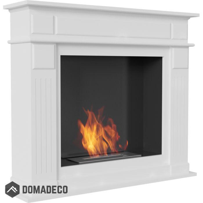 Buffalo White Free Standing Bioethanol Portal Fireplace Fireplaces For Sale Freestanding Fireplace