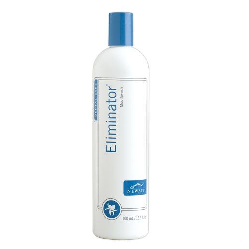 To give you fresh breath confidence in any situation, Neways has created Eliminator – the ideal mouthwash for the whole family. It contains stabilised chlorine dioxide to enhance your dental hygiene program and its alcohol free formula eliminates the telltale burning of traditional mouthwashes.