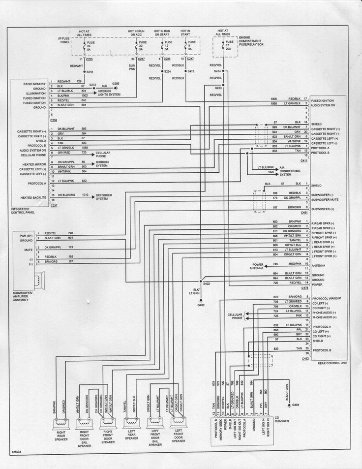 Ford Focus Stereo Wiring Harness Diagram