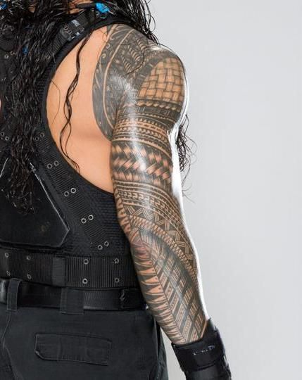 Roman Reigns Samoan Tribal Tattoo