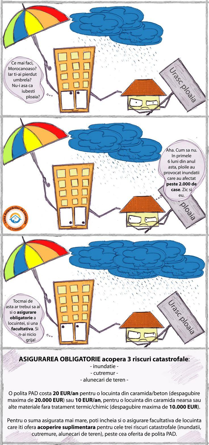 In prima jumatate a acestui an, peste 2000 de case din #Romania au fost afectate de #inundatii. Asigura-ti locuinta! #CasafaraGriji #lunaasigurarilordelocuinte #asigurariLocuinte