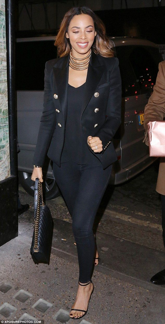 Dressed to impress: Rochelle Humes rocked yet another praise-worthy look when she stepped out for dinner at swanky London restaurant Swanky Fish on Thursday night