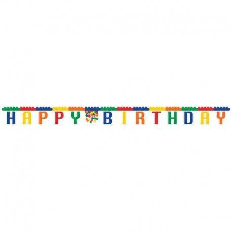 Letterslinger Lego. Vier het Lego kinderfeestje in stijl met deze letterslinger Lego. Kijk voor meer Lego feestartikelen en versiering op Tuf-Tuf.nl.
