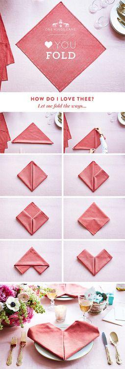 Cute napkin folding