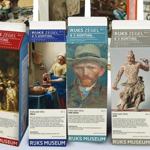 Rijks aan tafel. Topstukken op Albert Heijn zuivelverpakking - Nieuws - Nu in het museum - Rijksmuseum