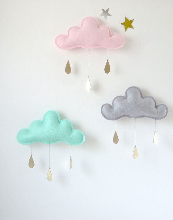 #DIY Rain #Cloud Mobiles Nursery Children