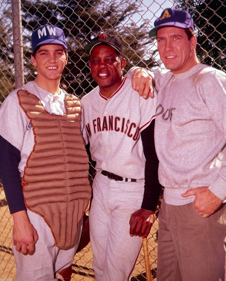 Paul Petersen, Willie Mays, and Carl Betz, The Donna Reed Show, 1964 More