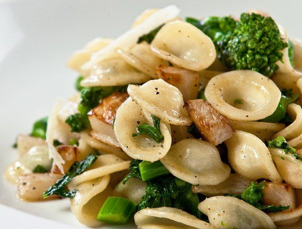 Orecchiette with Caramelized Turnips, Tuscan Kale, and Cracked Pepper from 'The Vermont Farm Table Cookbook'