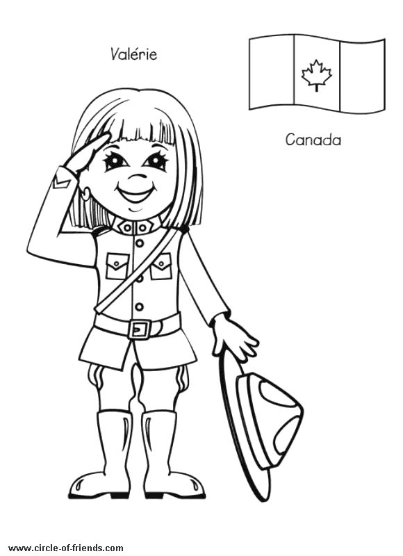 International Kids coloring pages - World Thinking Day?