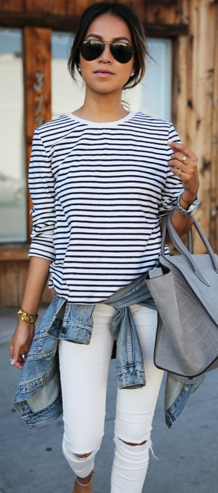 Get back to basics! Incorporate a staple item like stripes into your wardrobe this season.