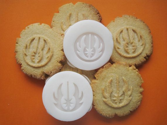 STAR WARS inspired JEDI Cookie Stamp recipe and by totalum on Etsy, $11.95