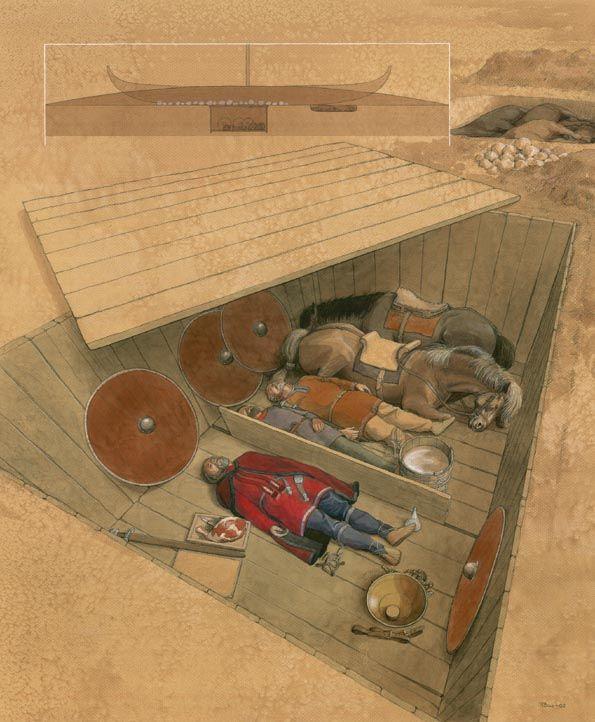 Bådkammergraven, ved Hedeby, Schleswig – Bootkammergrab, Haithabu, Schleswig – Boat chamber grave, Haithabu, Schleswig