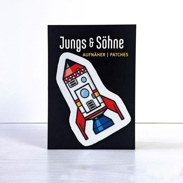 Aufnäher - Aufnäher Rakete von Jungs & Söhne - ein Designerstück von Jungs-und-Soehne bei DaWanda