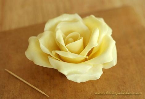 Chocolate Plastic Roses