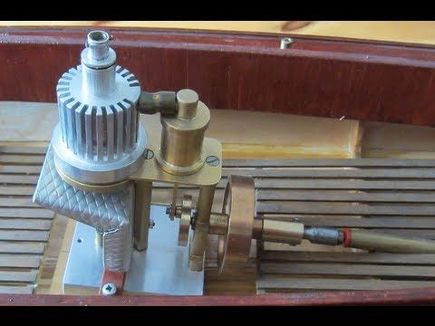 Stirling Engine Boat Model by William Kidd - YouTube