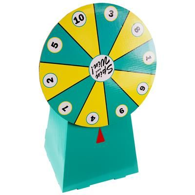 cardboard prize wheel 19 tabletop possible future use/inspiration wrong colors