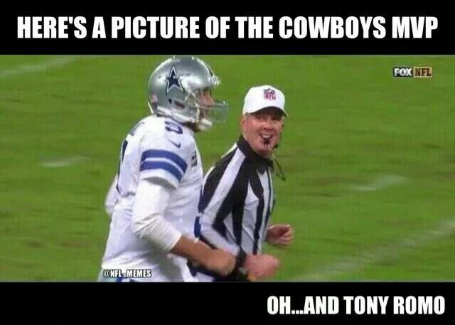 Here's a picture of the Cowboys MVP. ... Oh, and Tony Romo