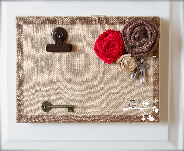 burlap canvas frames--by my craft desk??  or maybe the front door??